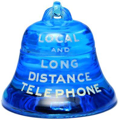 C & P TELEPHONE, Electric Blue; a true paperweight!