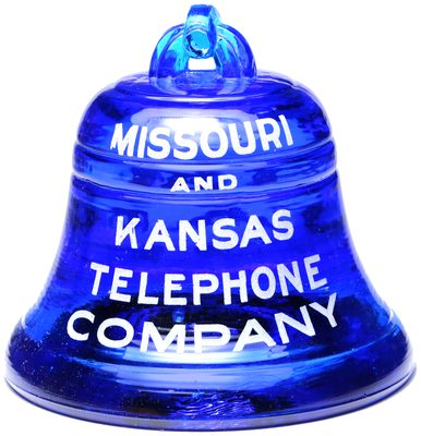 MISSOURI AND KANSAS TELEPHONE, Cobalt Blue; excellent condition!