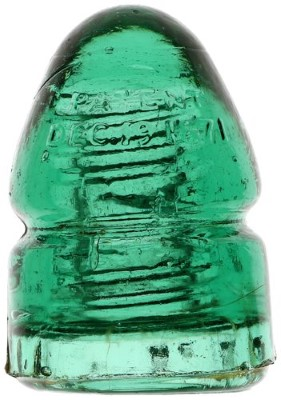 CD 133.4 PATENT - DEC. 19, 1871, Rich Green Aqua; Classic bullet!
