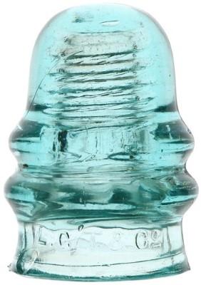 CD 131.4 L.G.T.& CO., Light Aqua; Early threaded glass!