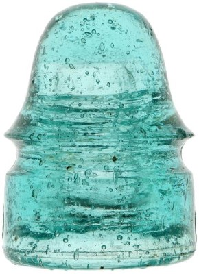 CD 134 AM.INSULATOR CO., Light Aqua w/ Bubbles; Larger than fizz!