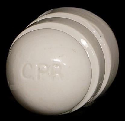 U-1196 C.P.R., White Porcelain; Canadian Pacific in porcelain!