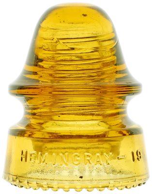CD 162 HEMINGRAY-19, True Yellow; Outstanding, virtually mint condition!
