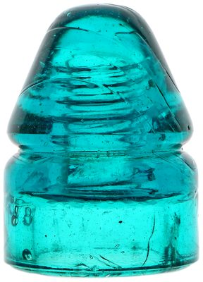 CD 132 PAT.APP.FOR, Bright Brooke's Blue; The thick glass shows its stunning color!