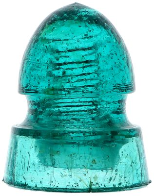 """CD 149 """"Burbrook"""", Bright Aqua w/ Seed Bubbles; A """"pointed bullet"""" with lots of character!"""