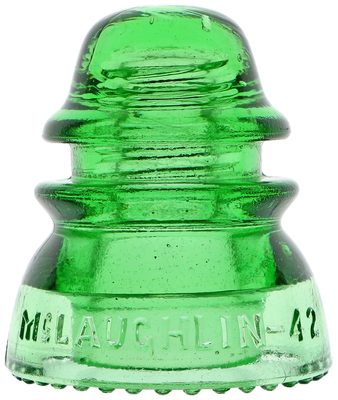 CD 154 McLAUGHLIN-42, Glowing Depression Glass Green; A desirable and stunning jewel!
