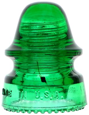 CD 162 HEMINGRAY-19, 7-up Green w/ Black Glob; See the rare double-tailed pollywog!