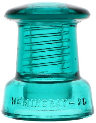"CD 175 HEMINGRAY-25, Aqua; The ""doorknob"" for obvious reasons!"