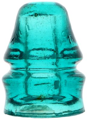 "CD 731 TILLOTSON, Blue Aqua; The ""Compromise"" insulator!"