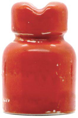 U-1690 {Poland}, Bright Brick Red; Eye-catching porcelain!