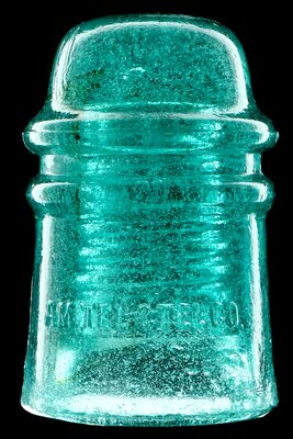 CD 121 AM.TEL.& TEL.CO., Light Aqua w/ Snow and Bubbles; Great dome glass, great character! UPDATE photo