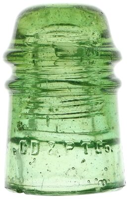 CD 121 C.D.& P.T.CO., Dark Apple Green w/ Bubbles; Color and character!