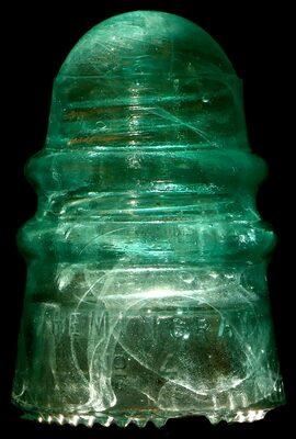 CD 124 HEMINGRAY / No 4, Light Milky Aqua; Milk, not the more common amber! UPDATE photo