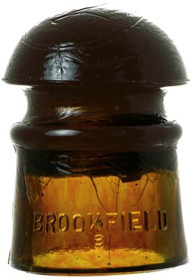 CD 101 BROOKFIELD, Striped Olive Amber; Great striping!