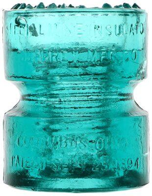 CD 185 JEFFREY MINE INSULATOR, Aqua; Great condition!