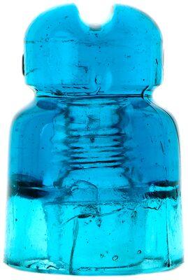CD 578.7 C3H II {Unembossed HEMAH} {Russia}, Bright Sapphire Blue; Stunning insulator!