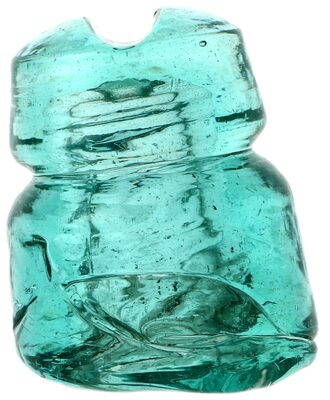 CD 511.2 {Unembossed} {Russia}, Light Aqua w/ Huge Underpour; Cool and crude!