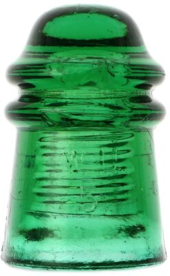 CD 125 W.U. // 1871, Bright Green; Extra dome glass plus a great color!