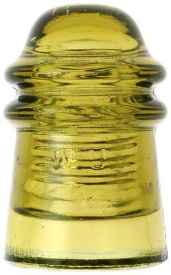 CD 125 W.U. // 1871, Yellow Olive Green; Colorful early Hemingray!