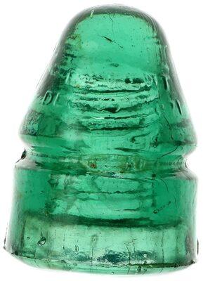 CD 132 PATENT DEC. 19, 1871, Green Green Aqua; A colorful bullet!