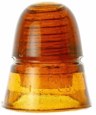 CD 145 H.G.CO., Dark Orange Amber; Medium dark amber beehive!