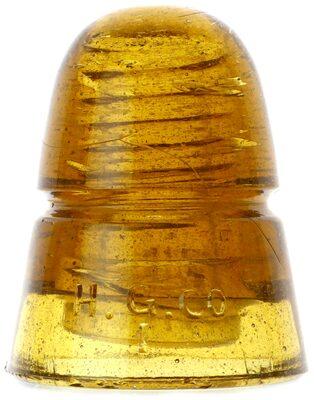 CD 145 H.G.CO., Honey Yellow Amber; Much lighter amber beehive! UPDATE: 9/12