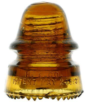 CD 162 H.G.CO., Mustard Honey Amber; Odd amber signal!