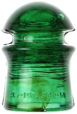 """CD 408 """"STAS-810"""" {Romania}, Emerald Green; Amber swirls around the base!"""